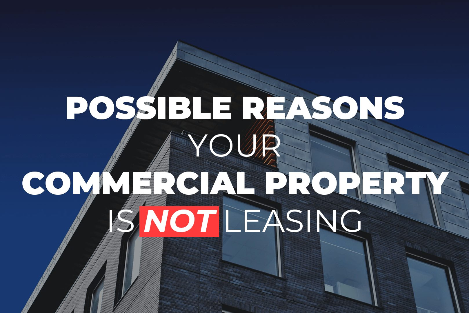 Possible Reasons Your Commercial Property Is Not Leasing